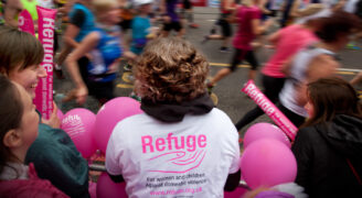 Runners for Refuge in the Edinburgh Half Marathon.