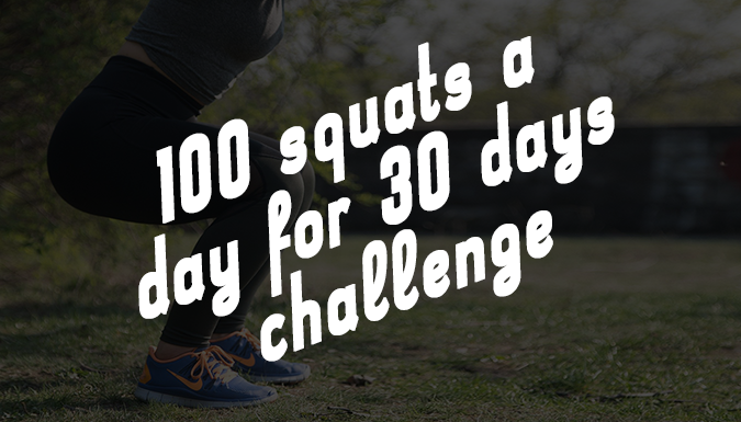 100 Squats for 30 days