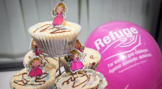 Tasty cupcakes and Refuge balloons