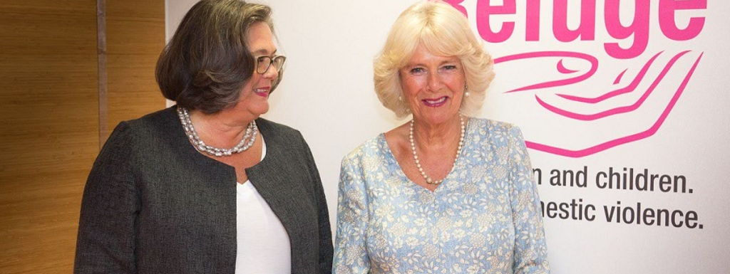 Sandra Horley with Camilla, Duchess of Cornwall