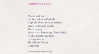 Refuge, UK's largest domestic violence charity, unveils chilling reversible poems to expose hidden nature of domestic violence at Christmas