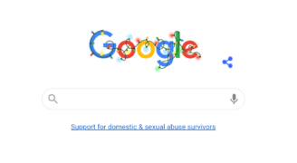 Google home page – for first time -  links directly to Refuge's  National Domestic Abuse Helpline
