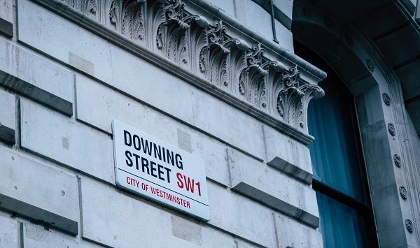 Image of downing street sign on building